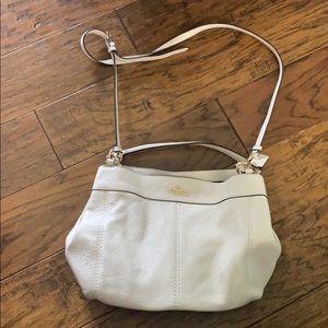 Small White Coach Shoulder Bag